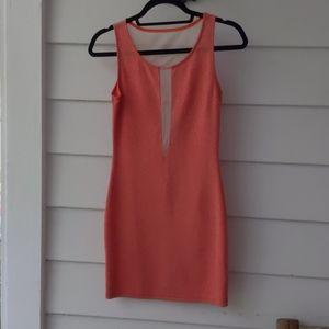Stretchy peach colored dress